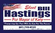 Bill Hastings Campaign Sign