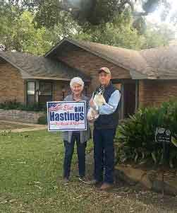 "Paulette Nelson and BeBe: (Past City of Katy Councilmember) ""You have my full support and BeBe told me Johnny would be so proud."""