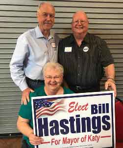"""We think Bill will be a great mayor. Our city will be blessed to have him as our leader."" Jimmy and Ann Adele Ross<br>Thank you both so much for the support!"