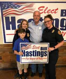 "April Mancini (Fort Bend County Paramedic): ""I can't think of anyone with more integrity and values! Will be a great Mayor for Katy!""<br> Thank you April, Faith and Lane for the support. Love you all."